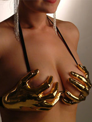 hand bra metal plastic 1 - Most Creative and Funny Bras