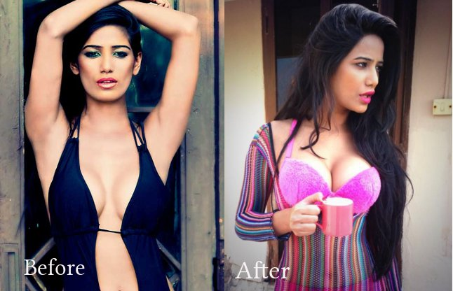 poonam 1435317077 - 10 Bollywood Actresses You Never Knew Had Breast Implants