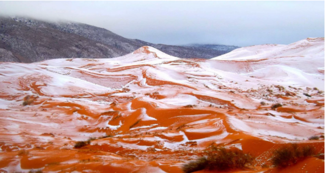 Snow falls in the Sahara desert for the first time in more than 37 years