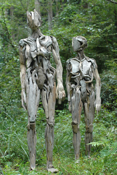 haunting driftwood sculptures by japanese artist nagato iwasaki - Japanese Artist Nagato Iwasaki Creates Amazing Driftwood Sculptures That Will Scare You