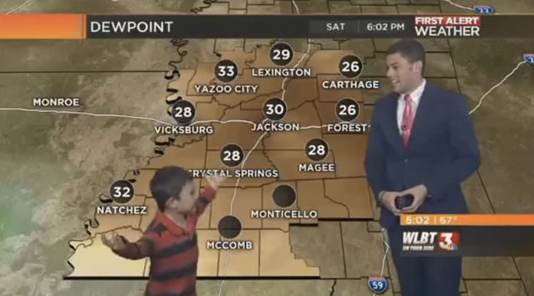 Kid Interrupts Live News Show And Then Farts On The Weatherman