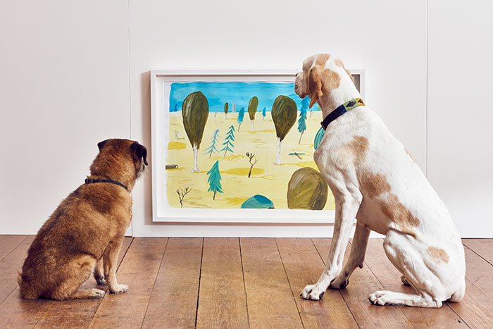 world first dog art exhibition dominic wilcox london 1 - Take A Look Around The World's First Art Exhibition For Dogs