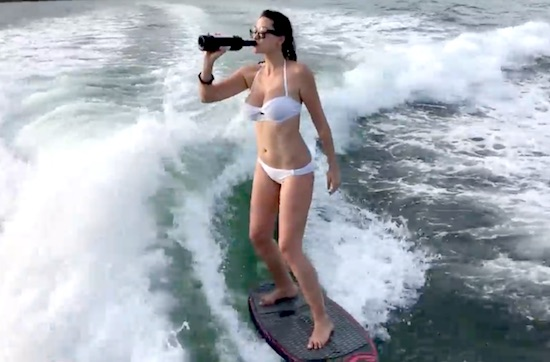 topless surfing