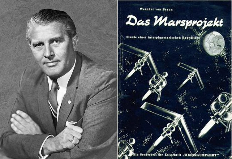 "Wernher von Brauns The Mars Project - In 1952, Wernher von Braun Predicted That Civilization On Mars Would Be Led By A Man Called ""Elon."""