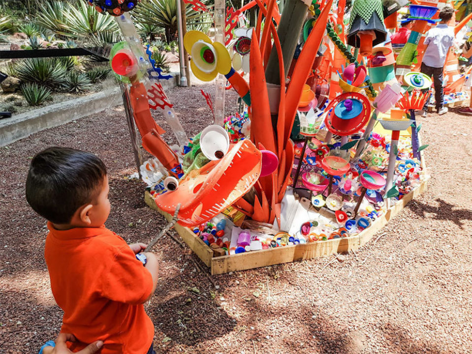 3 13 - Artist Turned Plastic Waste Into A Colorful Forest In Mexico City