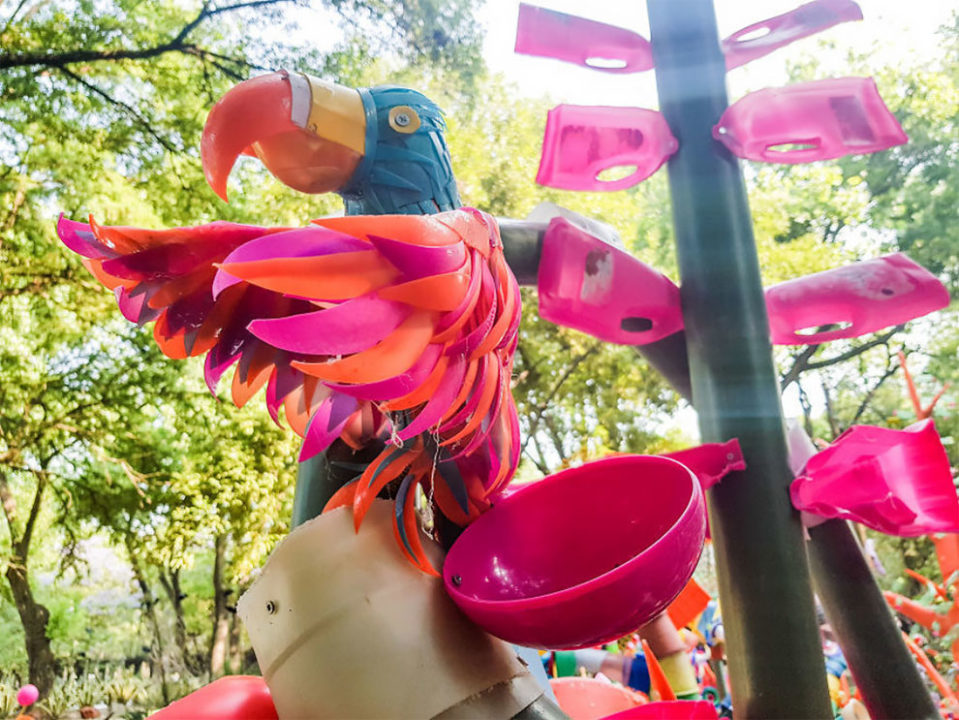 5 13 - Artist Turned Plastic Waste Into A Colorful Forest In Mexico City