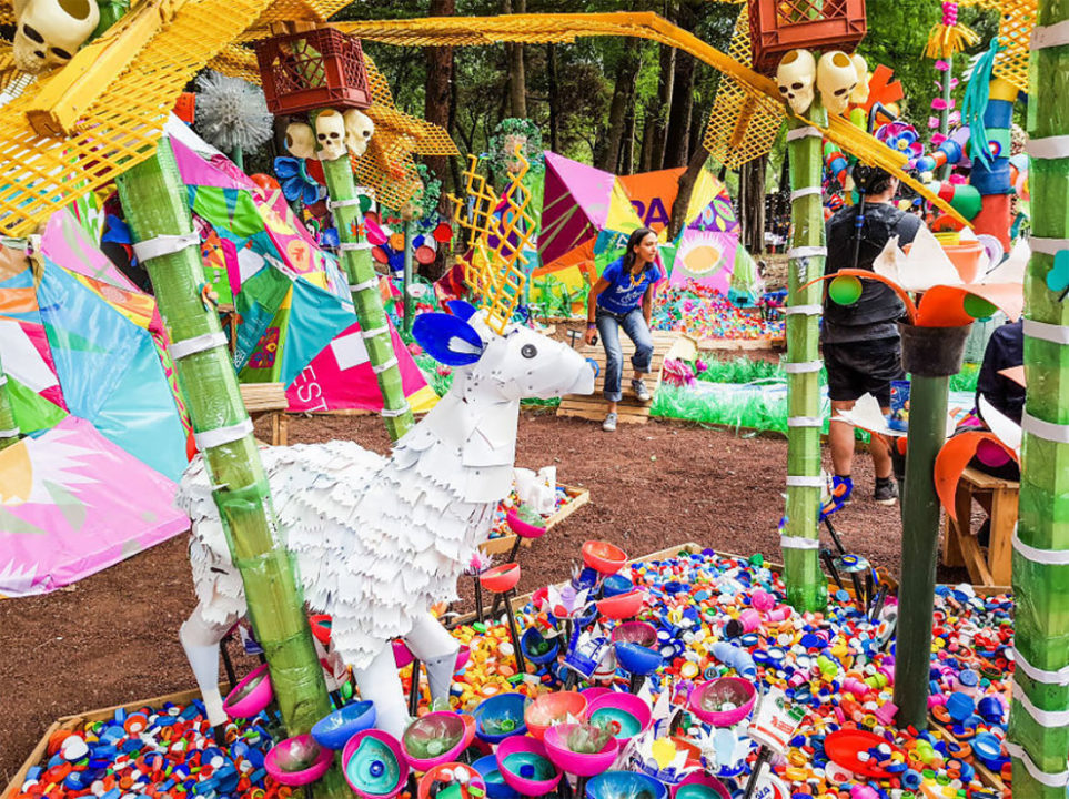 6 12 - Artist Turned Plastic Waste Into A Colorful Forest In Mexico City