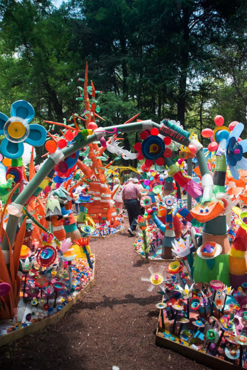 7 12 - Artist Turned Plastic Waste Into A Colorful Forest In Mexico City