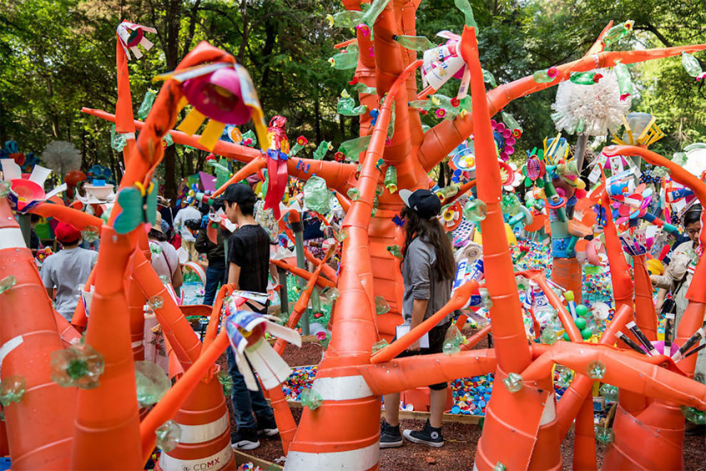 9 12 - Artist Turned Plastic Waste Into A Colorful Forest In Mexico City