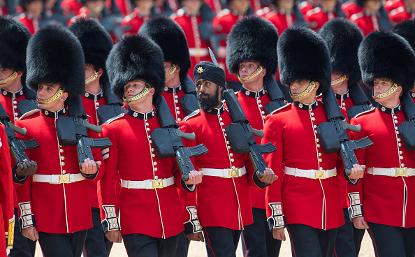Indian sikh wearing turban british army