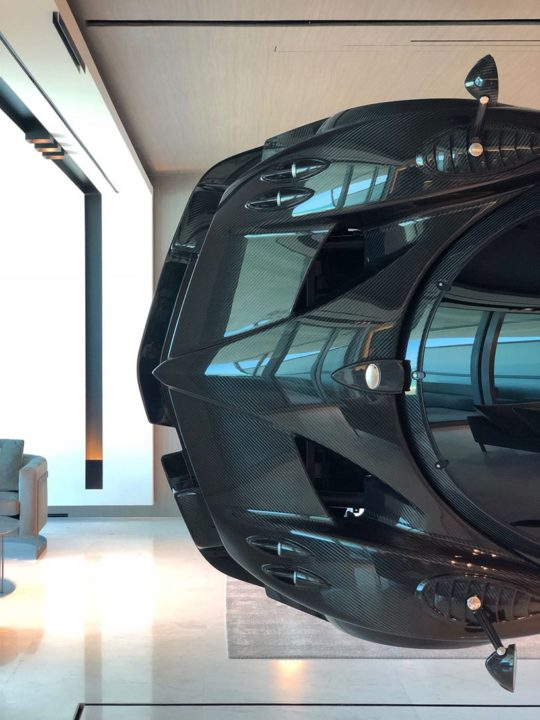 designboom pagani car home 3 - This Miami Residence Has A $1.5 million Pagani Zonda Mounted On The Wall