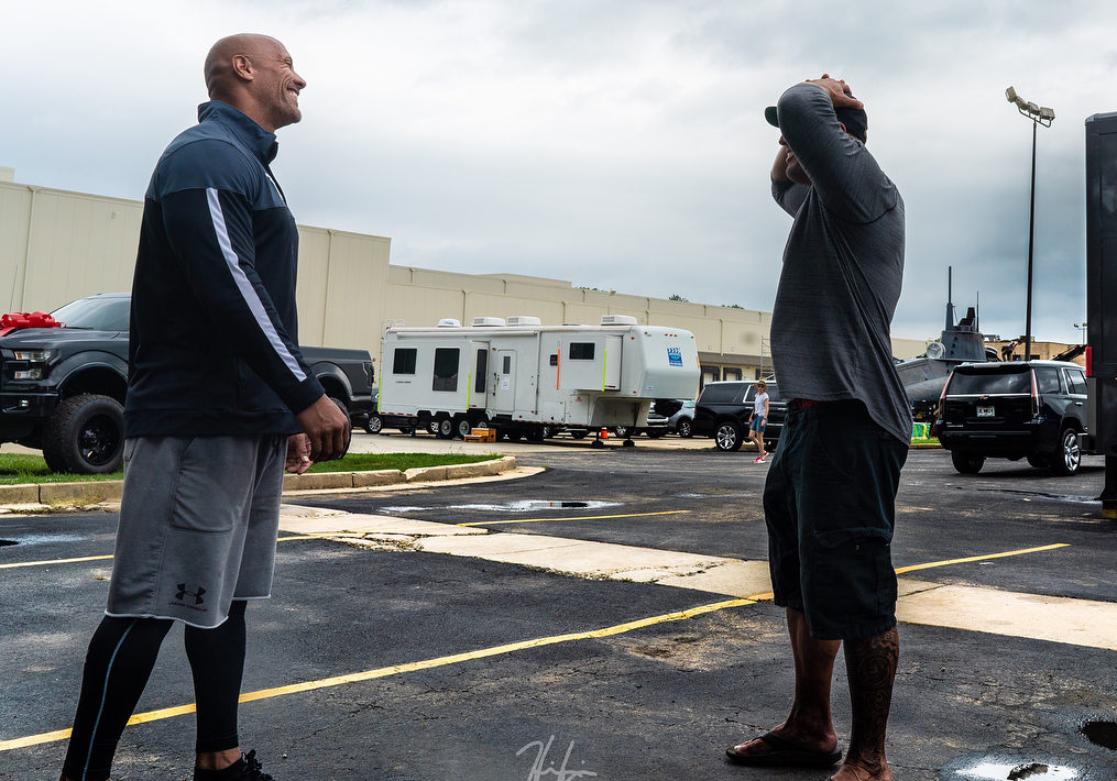 """37202574 615421232184458 2288276502778740736 n e1533183355615 - Dwayne Johnson 'The Rock' Surprises His """"Twin"""" Stunt Double With A Heart Warming Gift"""