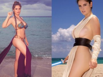 Leia Rey 360x270 - Star Wars Princess Leia And Rey Cosplay By Danielle Pavluk