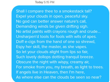 funny tinder chat sonnet 12 360x270 - This Guy's Secret Tinder Chat Is Going Viral For Very Fascinating Reasons