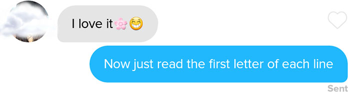 funny tinder chat sonnet 13 - This Guy's Secret Tinder Chat Is Going Viral For Very Fascinating Reasons