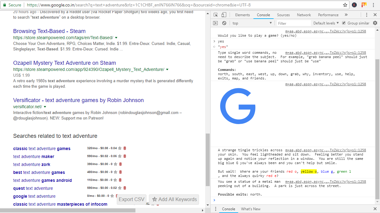 Screenshot 52 - Google Has A Hidden In-Browser Text Adventure Game-Here's How To Find And Play It