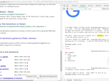 Google Text Adventure Game