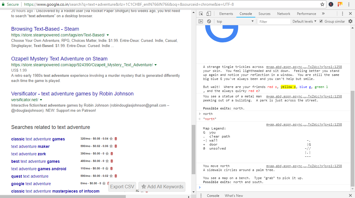 Screenshot 53 - Google Has A Hidden In-Browser Text Adventure Game-Here's How To Find And Play It