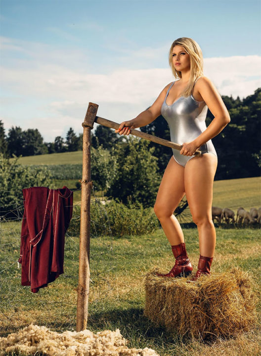 6 52 - German Farm Girls Have Stripped Off For A Saucy Comic-Book Themed 'Young Farmers Calendar' 2019