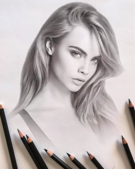 Hyper-realistic drawing